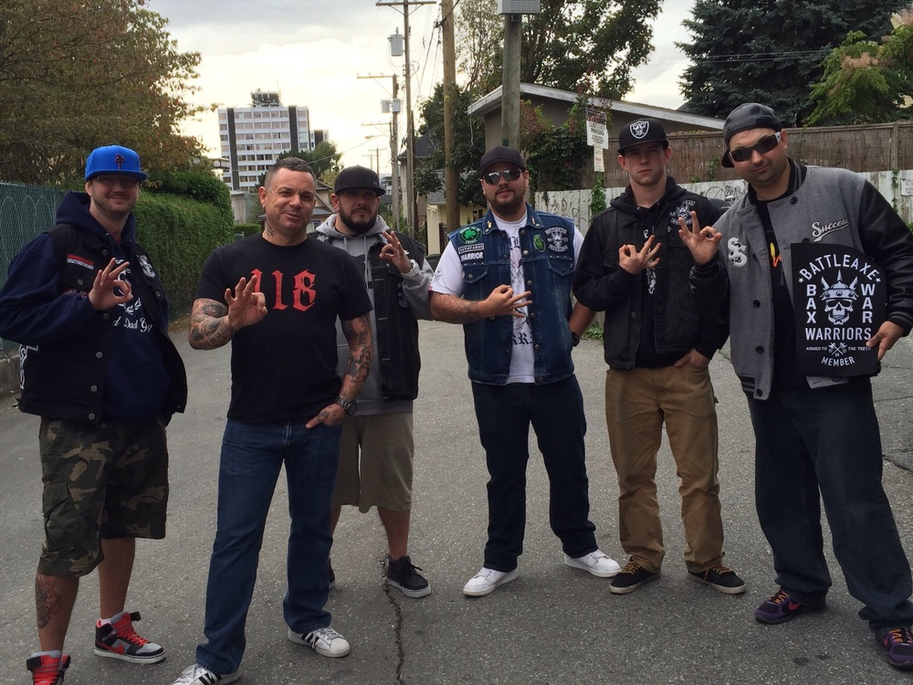 Vancouver Warriors with West Coast Boss Rocco.