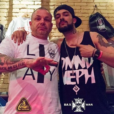 @nephbaxwar and @tattootailor #rebelhipoietour #boss #neph #artistofallforms #worldwide #positive #famiglia