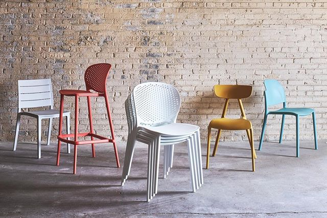 New work with @urbiafurniture #repost @urbiafurniture⠀• • •⠀A colorful solution for your outdoor seating! Courtesy of our polypropylene chairs from the Metro collection. . From left to right: Linton, Bailey Bar Stool, Bailey, Perry, Lenon. . . #UrbiaFurniture #InteriorDesign #InteriorDesigner #InteriorStyle #InteriorStyling #OutdoorFurniture #PatioFurniture #BarStool #SideStool #Chairs #HPMKT #DesignOnHPMKT #LVMKT #LasVegasMarket