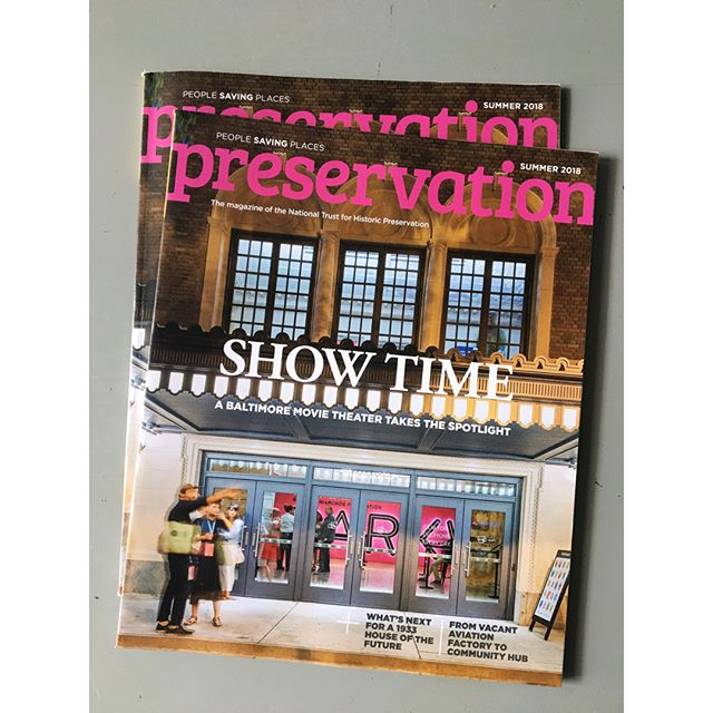 The Summer 2018 issue of Preservation Magazine featuring Baltimore's new/old Parkway Theatre is out now. It was a pleasure photographing this amazing space.  @marylandfilmfestival @savingplaces #preservationmagazine #historicpreservation #nationaltrustforhistoricpreservation #newwork