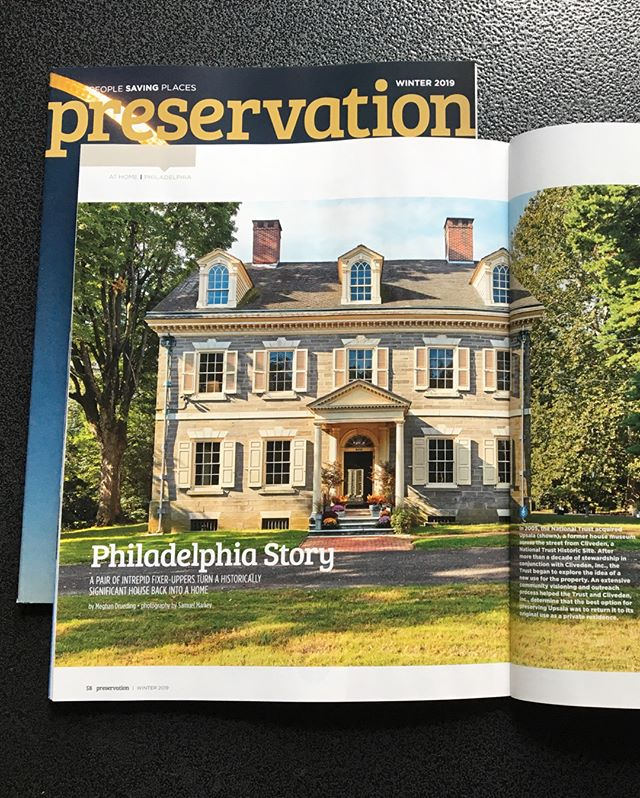 New work for the Winter 2019 issue of Preservation Magazine. Upsala Mansion was built in 1798 and is now being wonderfully updated by Alex and Violette @historicupsala. Looking forward to seeing what they have in store for this amazing property in the near future.  @savingplaces #savingplaces #historicpreservation #philadelphia #germantown