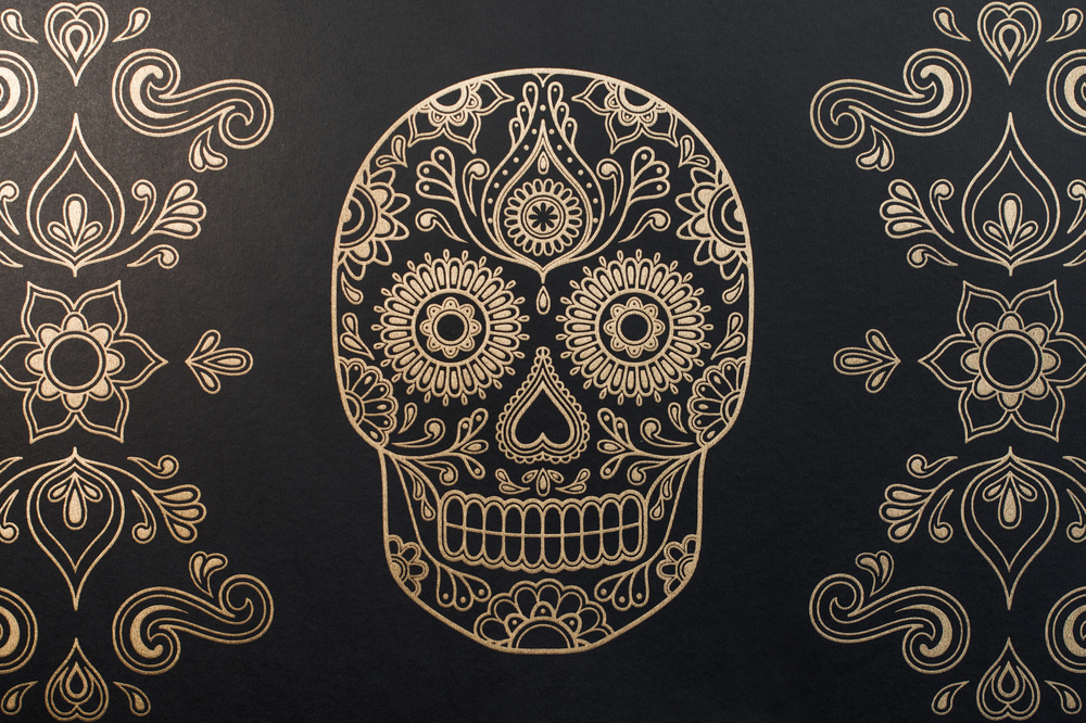 Sugar Skull Wallpaper by Anatomy Boutique