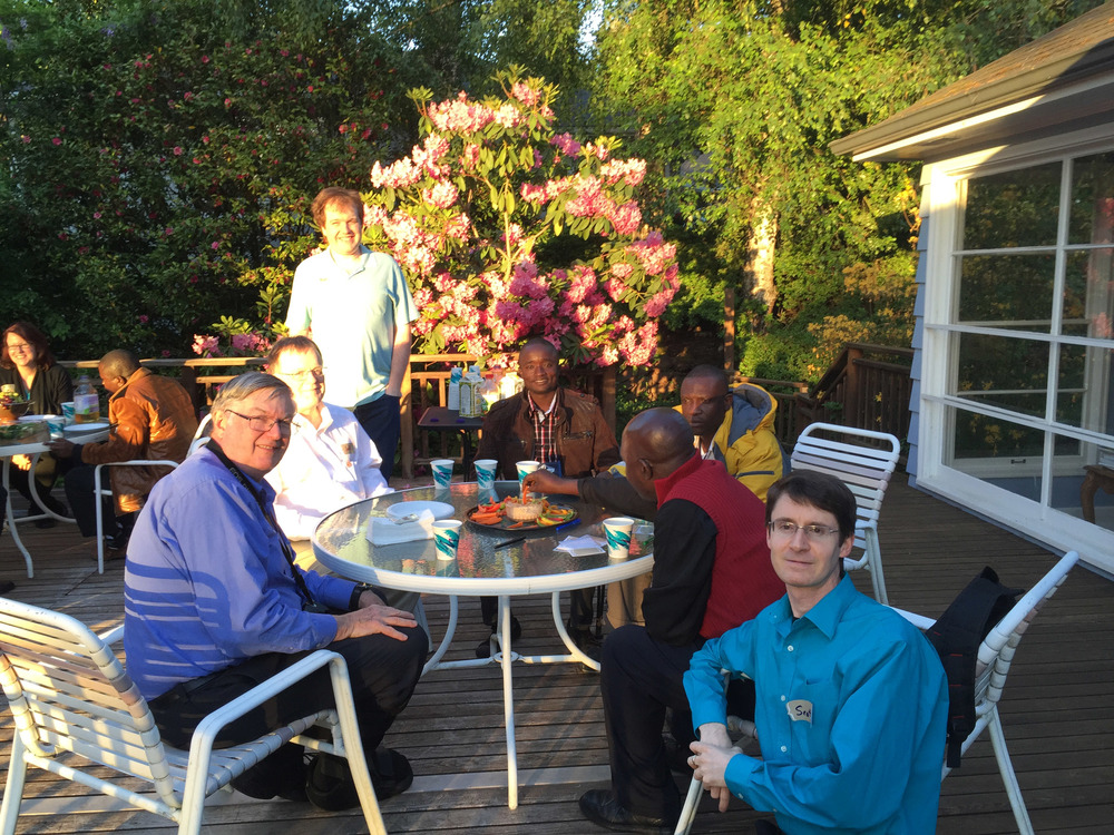 10 congolese delegates ate dinner with LYNC volunteers last night at the home of a Methodist family in Portland.