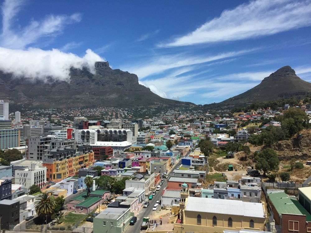 Kapstaden, Table mountain med Devil's Peak och Lion's Head