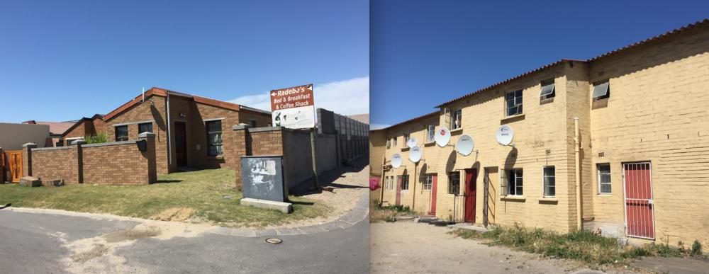 Staten bygger nya hus som ska ersätta de gamla. De flesta hus, nya och gamla har parabolantenn och har TV.Om man får ett sådant nytt hus och har råd kan man utveckla det till ett B&B och tjäna mer pengar. De säger att trots det börjar bli stor skillnader mellan olika kåkstadborna har de väldigt fina relationer med varandra och saknar avundsjuka. De vill dessutom att världen ska se kåkstäderna och inte bara rika vita Sydafrika. De ber oss berätta.