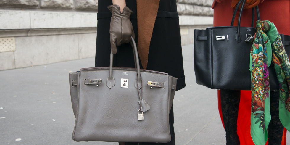 The Birkin bag is one of the most famous purses in the world and synonymous with sophistication, just like the name Hermes.  Image via Harpers Baazar