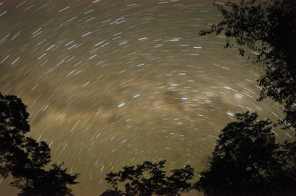 Star trails above Chinjala