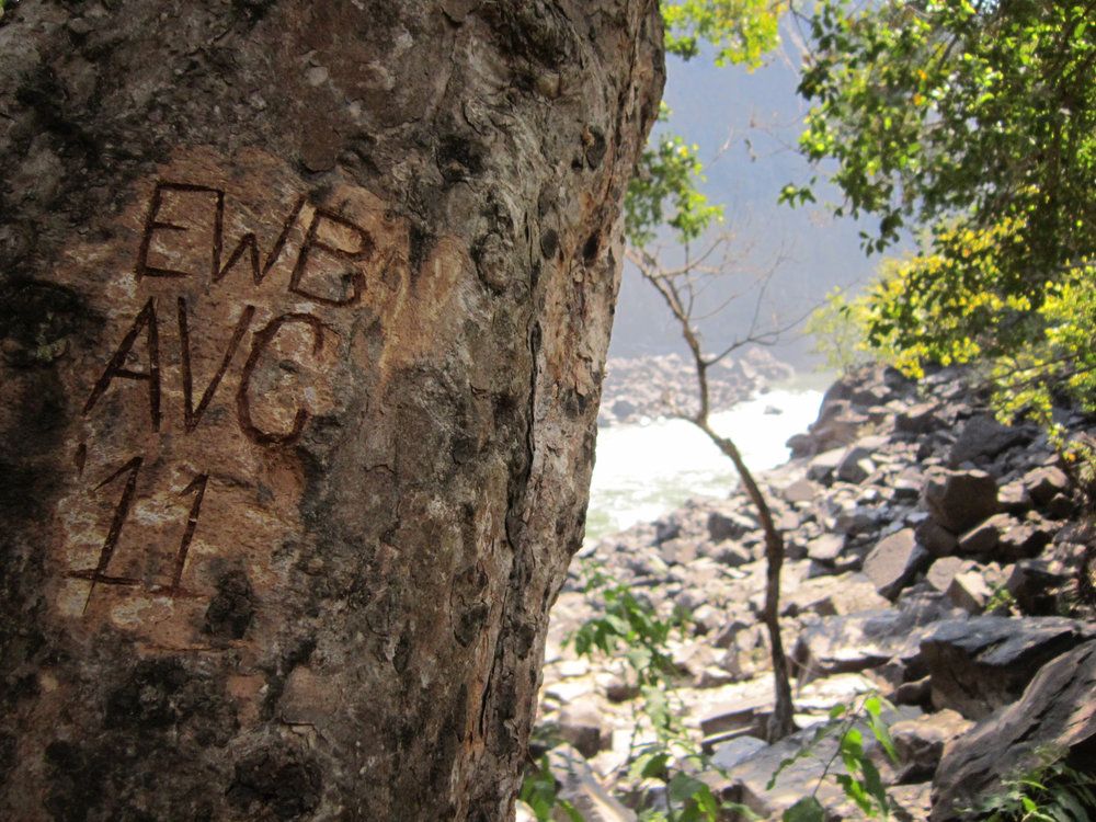We didn't takeoff before leaving our mark in Zambia at the Boiling Pot, Victoria Falls - EWB Agriculture Value Chains Team '11