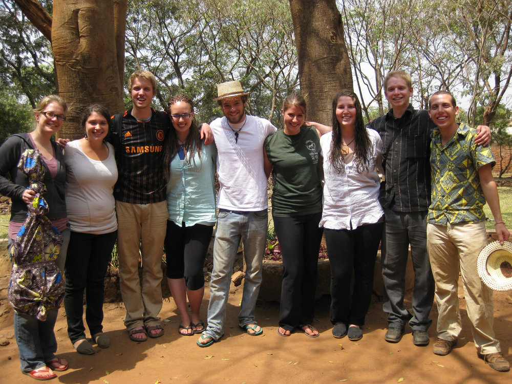 AVC Junior Fellows 5 min before catching the bus to the Malawi airport on departure day.