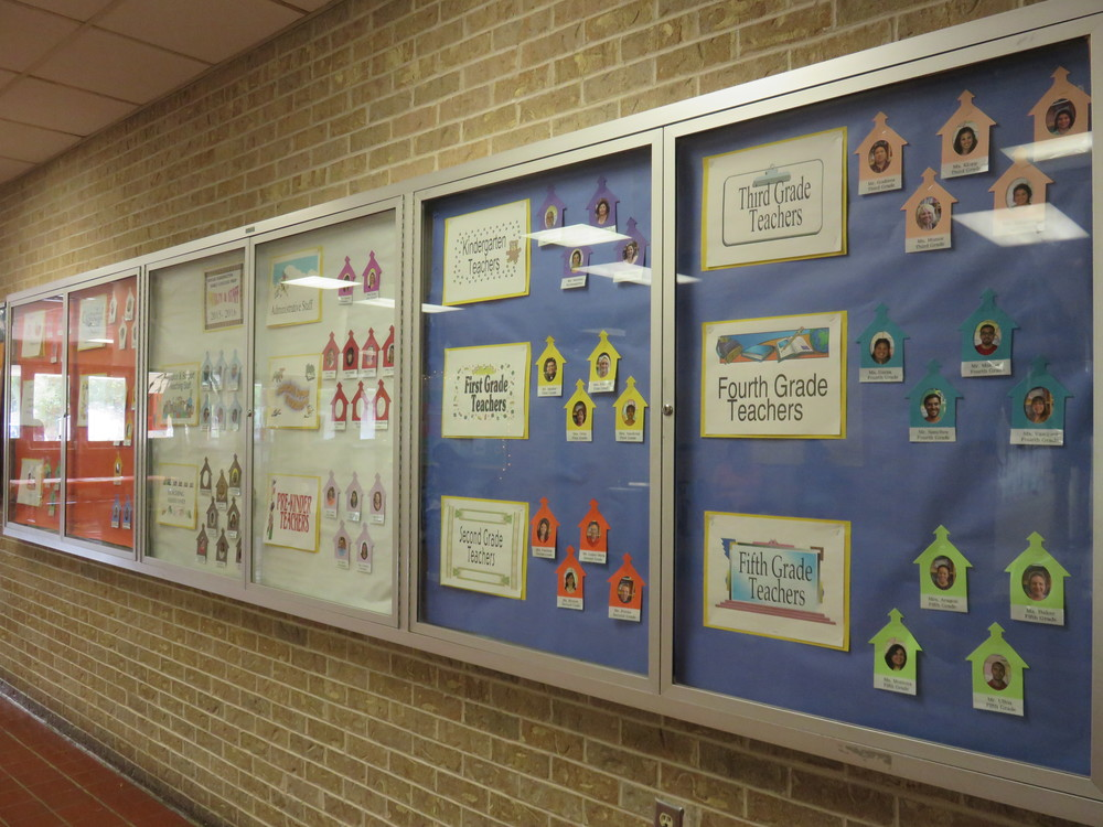An organization chart in Barrington's hall helps the school community familiarize itself with its new members.