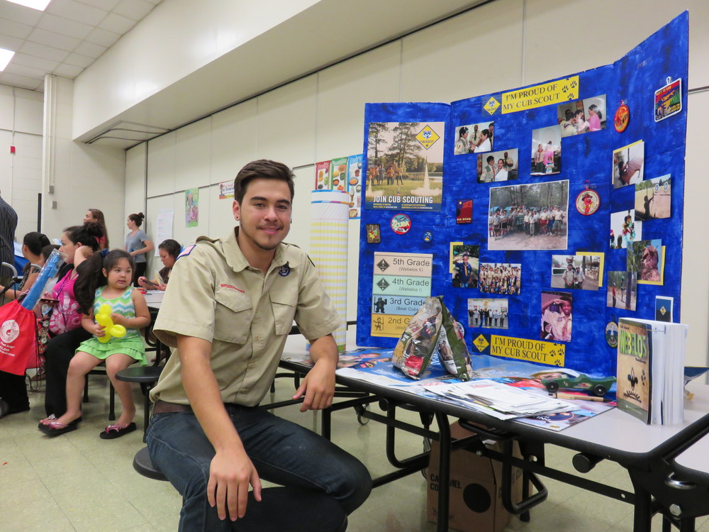 Cesar Bobadilla is the leader of the new Boy Scouts troop.