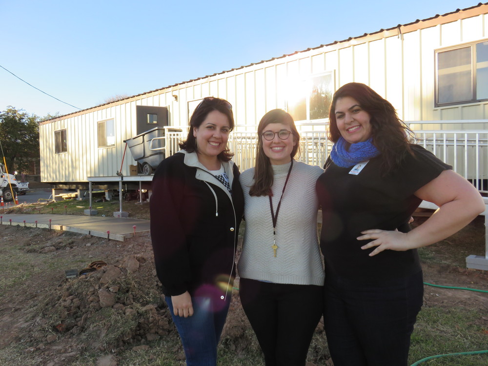 Lanier High School new Family Resource Center staff: Jocelyn Cornell, Director and Community School Coordinator; Louise Hanks, Social Worker; and Yeraldin Yordi, administrative assistant, fluent in English and Spanish, but also arabic.