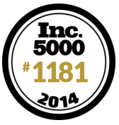 Inc Magazine's  Growing Companies of 2014.