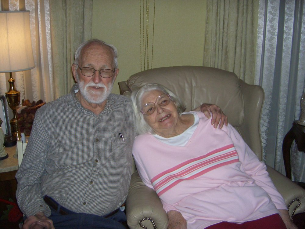My grandparents always sit side-by-side whenever health allows. This shot is from 2005.
