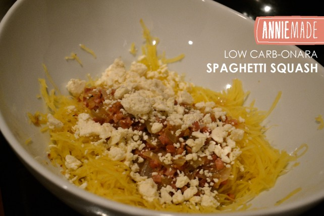 ANNIEMADE Low-carb Carbonara with Spaghetti Squash Recipe