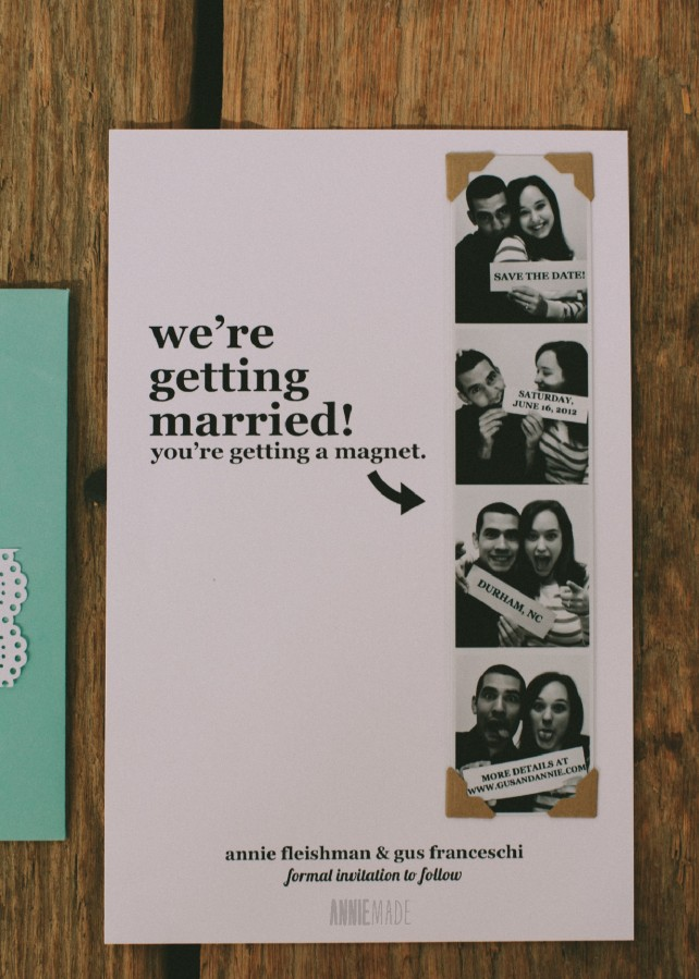 Diy Photostrip Magnet Save The Dates Free Templates