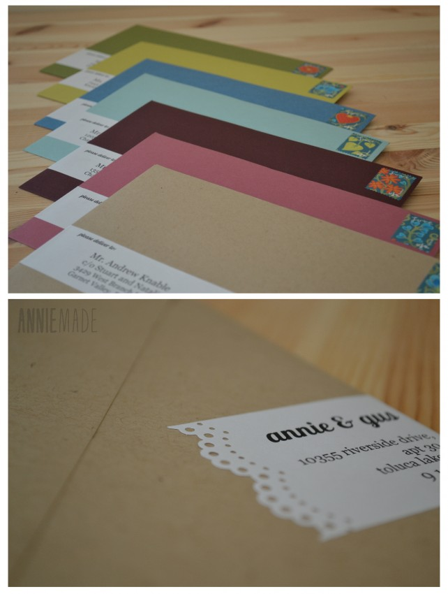 ANNIEMADE Wrap-Around Labels for Save the Dates