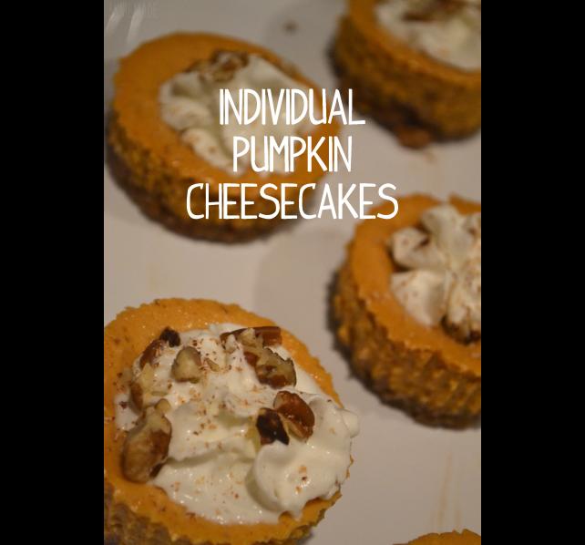 anniemade Individual Pumpkin Cheesecakes