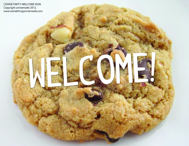 anniemade Cookie Party Free Printable Welcome Sign