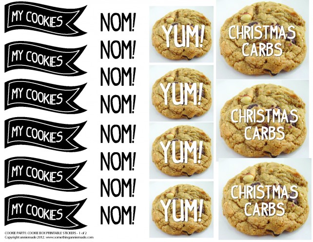 anniemade Free Cookie Party Printable Stickers