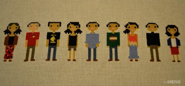 anniemade DIY Cross Stitch Family Portrait