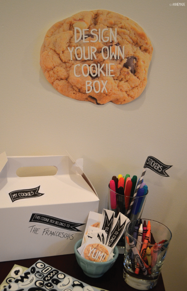 anniemade Cookie Box Decorating Station - the perfect activity for a Cookie Exchange