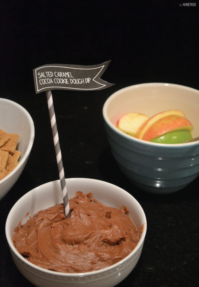 anniemade Salted Caramel Cocoa Cookie Dough Dip