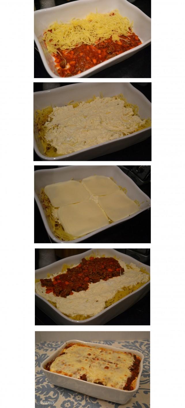 anniemade Spaghetti Squash Lasagna - step by step recipe
