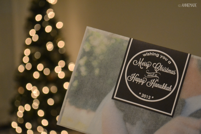 anniemade Custom Creative Christmas Cards - Photo Envelopes Sealed with a Message