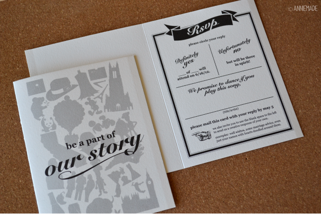 anniemade Custom Wedding RSVP Card