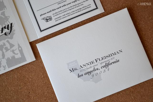 anniemade Custom Silhouette RSVP Envelope