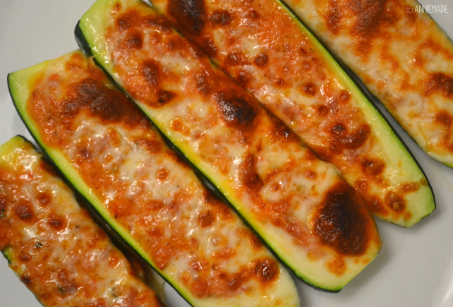 anniemade // Two Cheese Italian Stuffed Zucchini - Super easy recipe