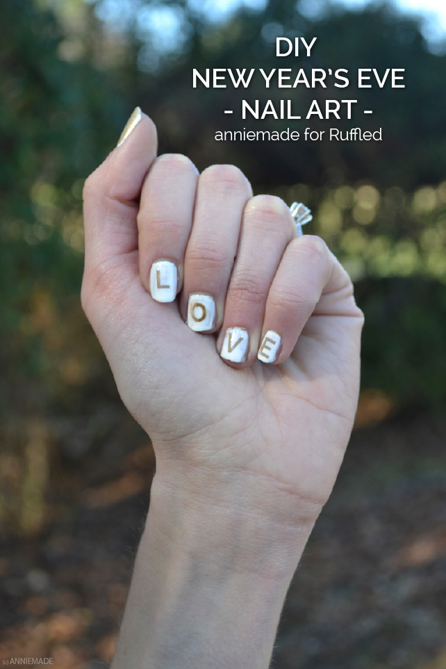 anniemade for Ruffled // DIY 2014 Typographic Nail Art - Tutorial and Free Templates!
