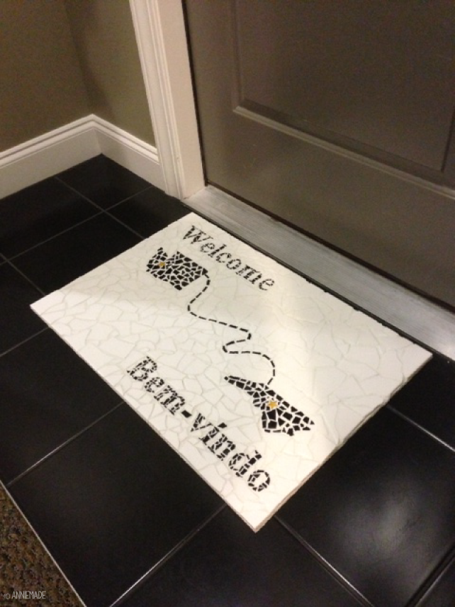 anniemade // State-Inspired Custom Tile Doormat Project - Tutorial included