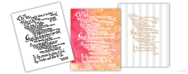 anniemade // Custom made hand-lettered Prayer Art Print // contact for custom orders