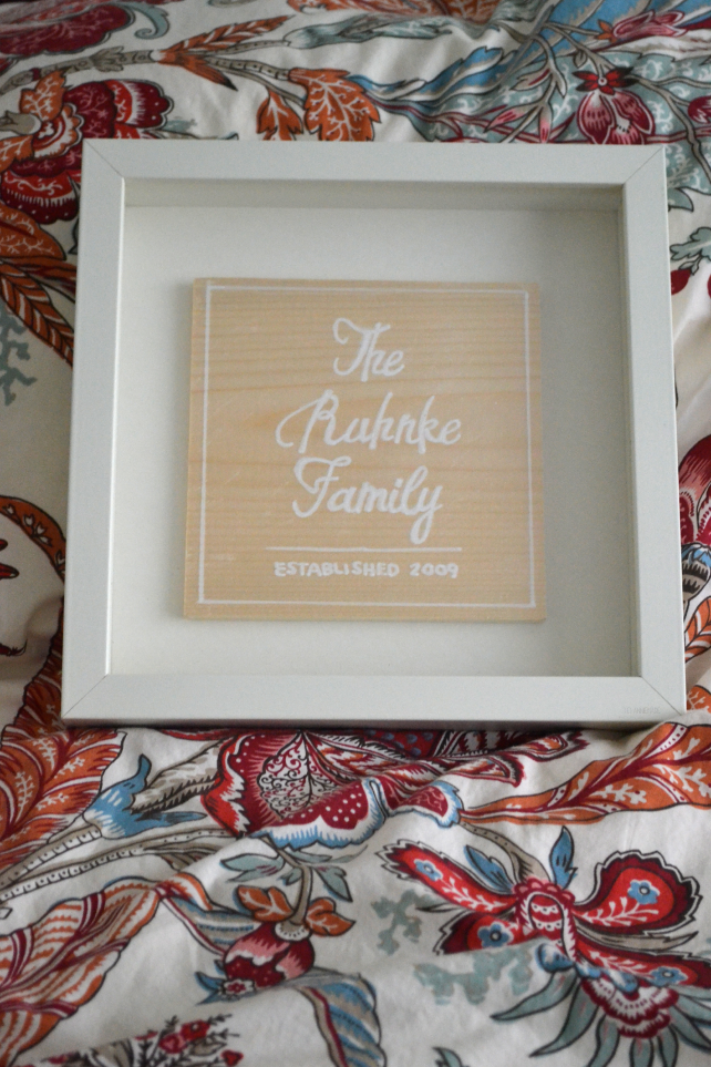 anniemade // Custom Wood Shadow Box Family Sign // Contact for custom orders