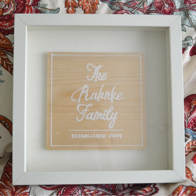 anniemade // Custom Wood Shadow Box Family Sign