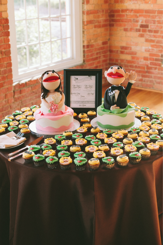 anniemade // Muppetized Bride and Groom Wedding Cakes
