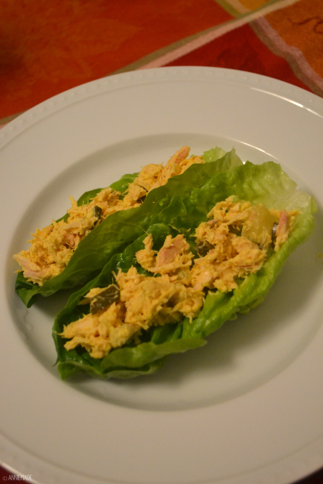 anniemade // Quick and easy Tuna Salad Lettuce Cups Recipe