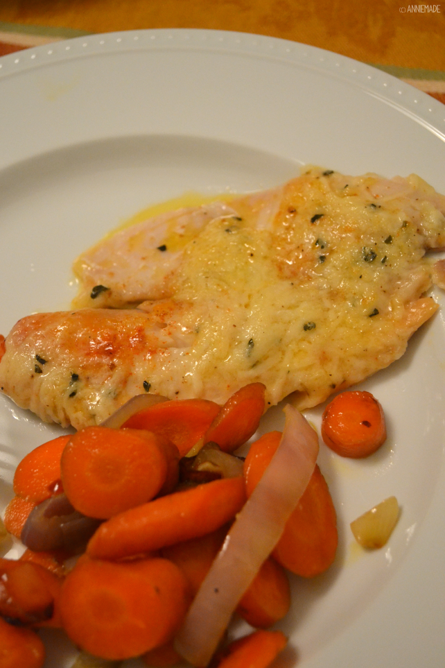 anniemade // Recipe for Broiled Parmesan Lemon Tilapia - Easy, Quick, Gluten-Free aaand Low Carb
