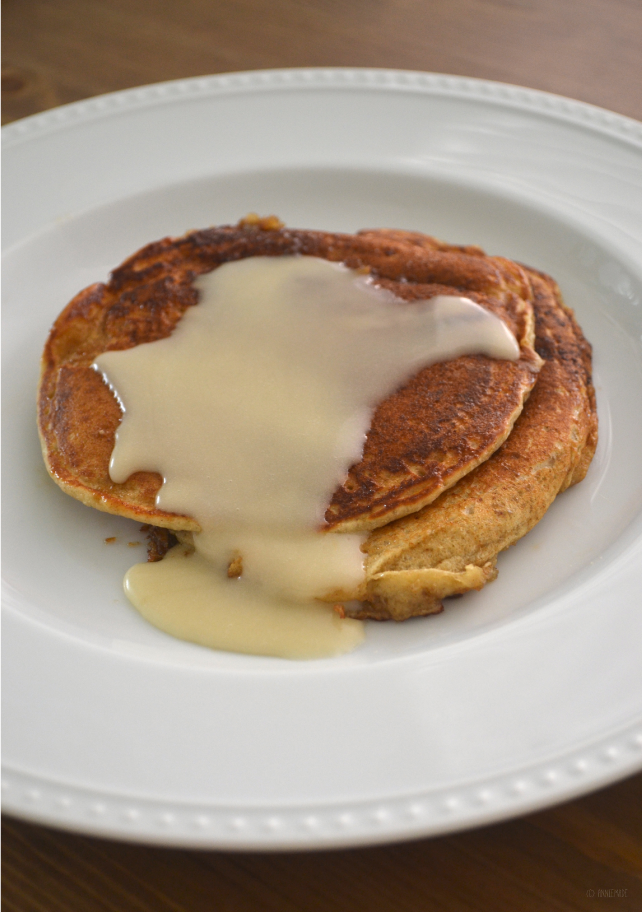 anniemade // Easy Cinnamon Creme Brulee Pancakes that can be made gluten-free