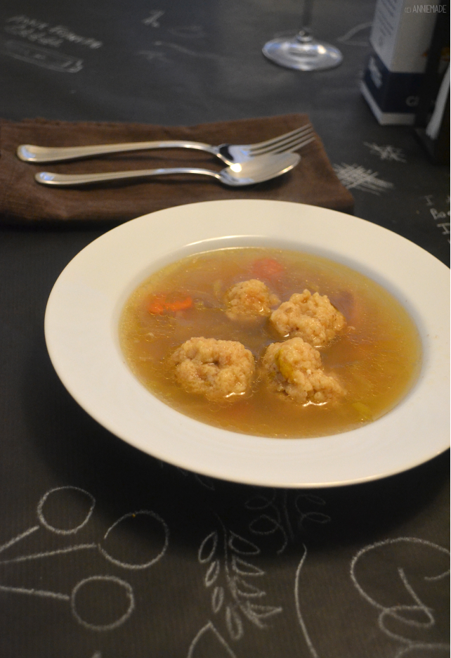 anniemade // Delicious and Easy Gluten-Free Matzah Ball Soup Recipe for Passover