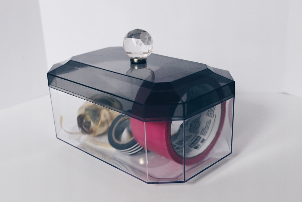 DIY jewel handled acrylic box