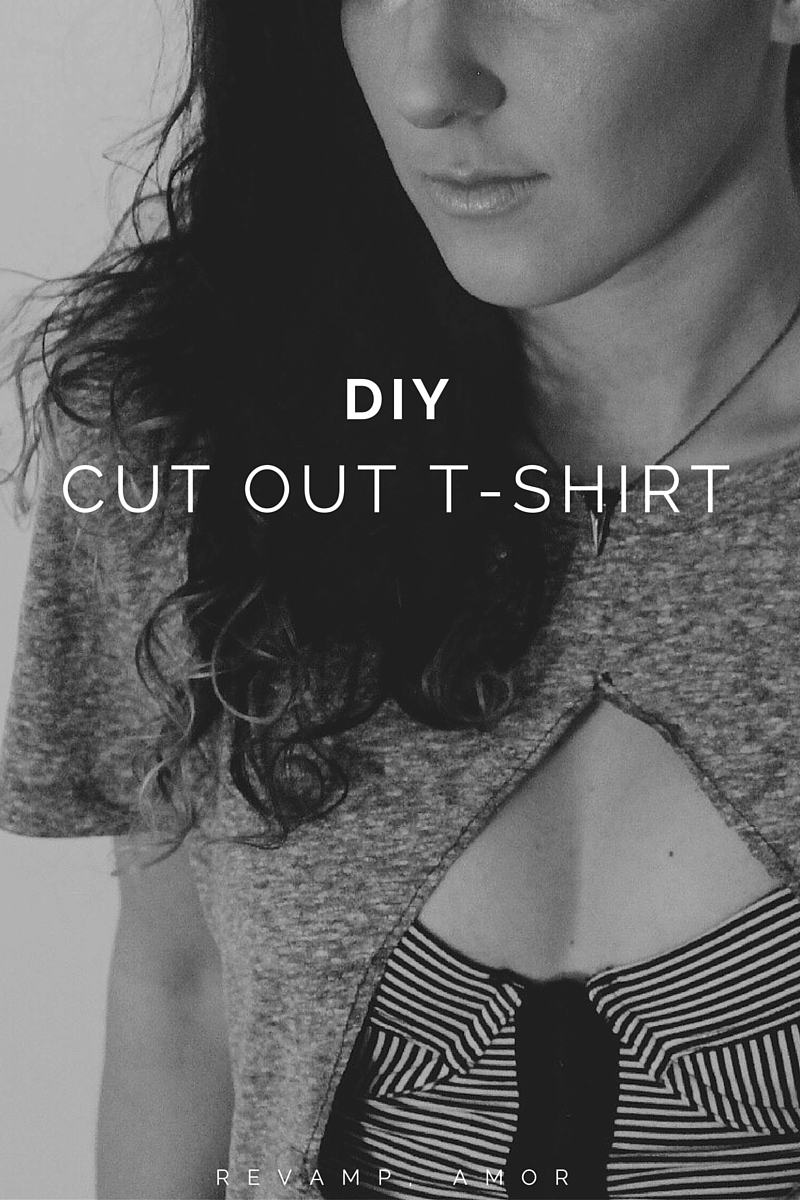 DIY clothing: cutout shirt