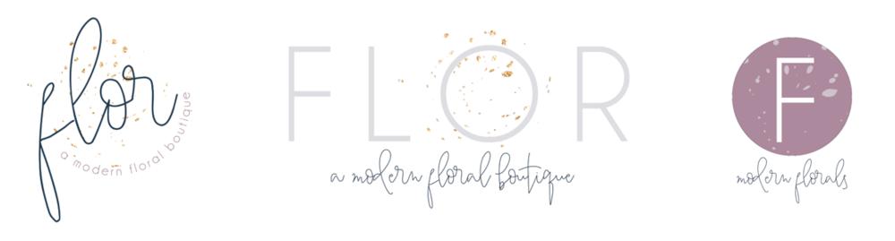 FLOR branding, logo variations -Revamp Amor Design Studio