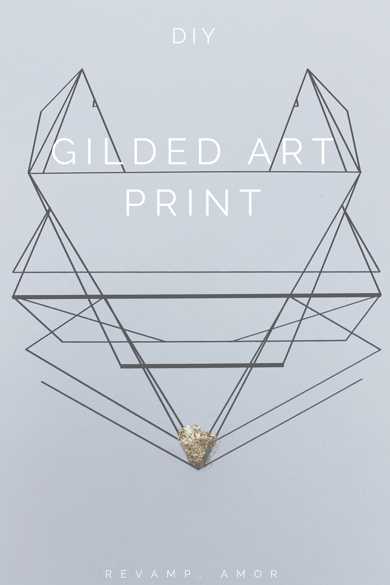DIY gilded art print & free download!