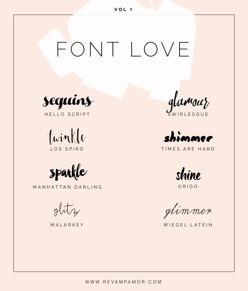 FONT LOVE 01: feminine, glamorous scripts