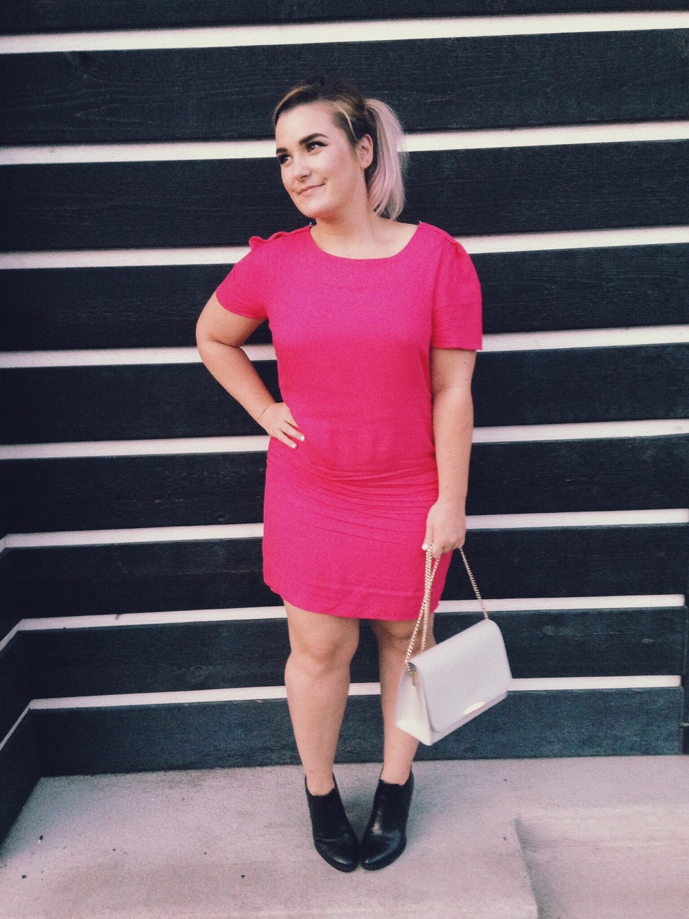 personal style- a simple birthday dinner & stylish pink dress
