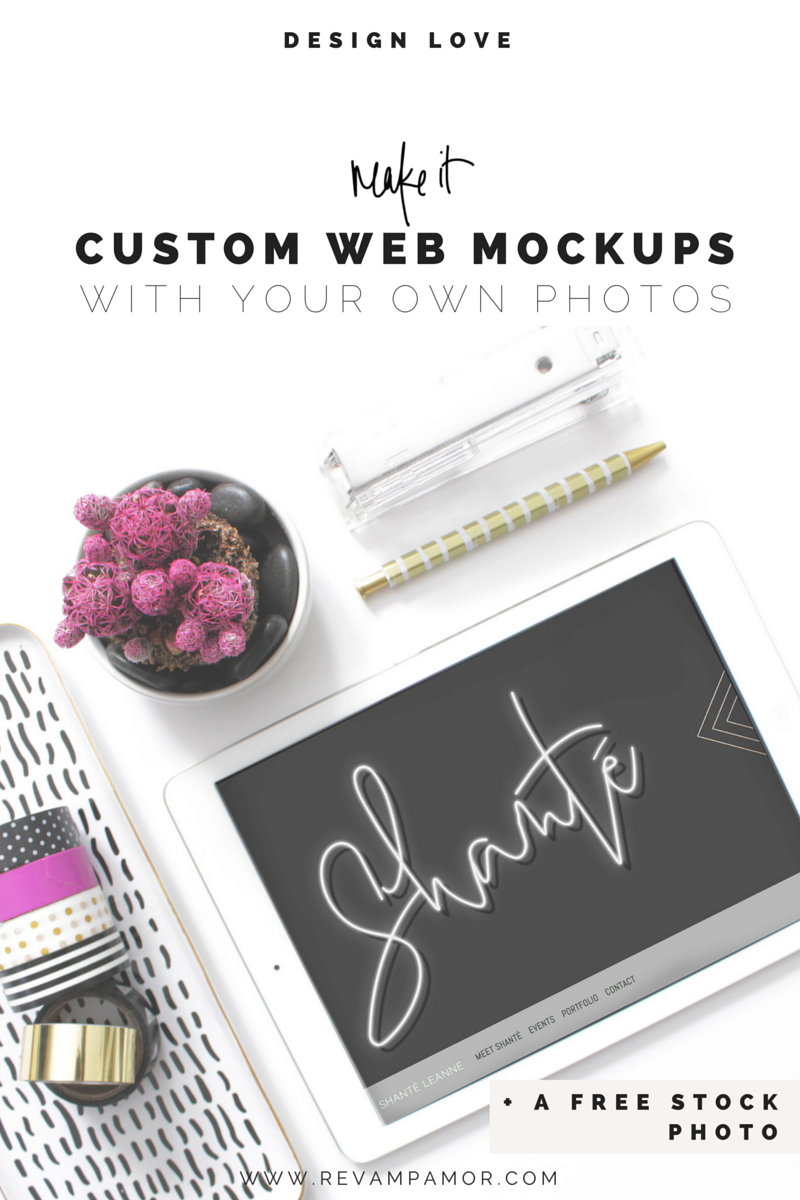 HOW TO create easy webpage mockups with your own photos