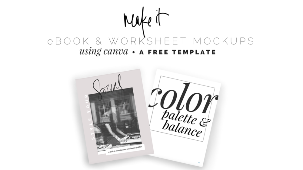 DIY DESIGN: creating gorgeous worksheet mockups in canva + a free ...